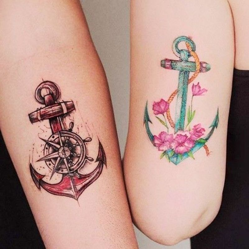 Anchor Brother and Sister Tattoo Ideas