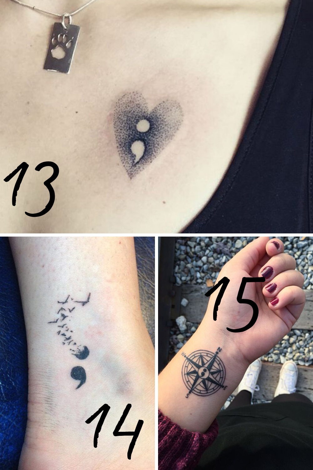 Depression tattoos
