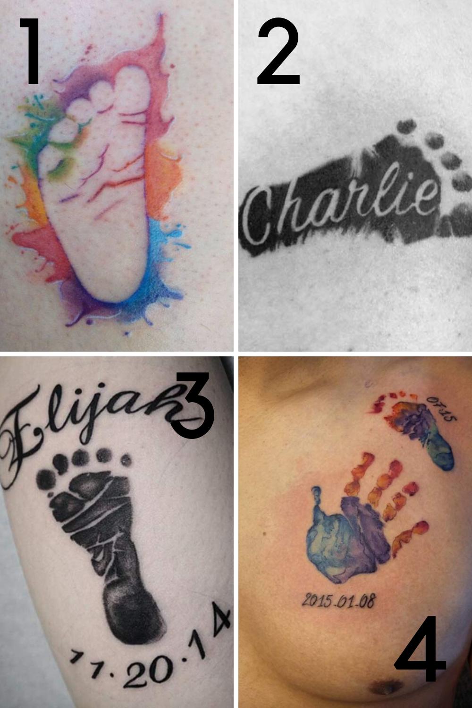 Baby feet tattoo ideas