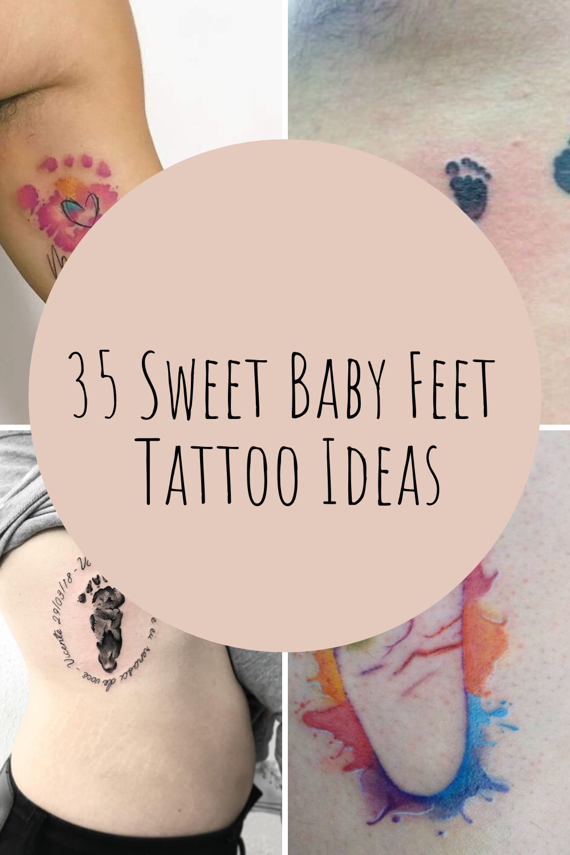 Sweet baby feet tattoo ideas