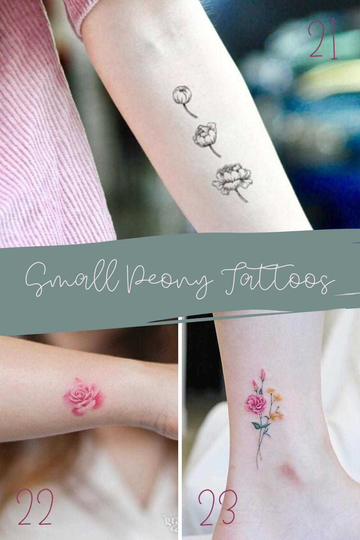 Small Peony Tattoos