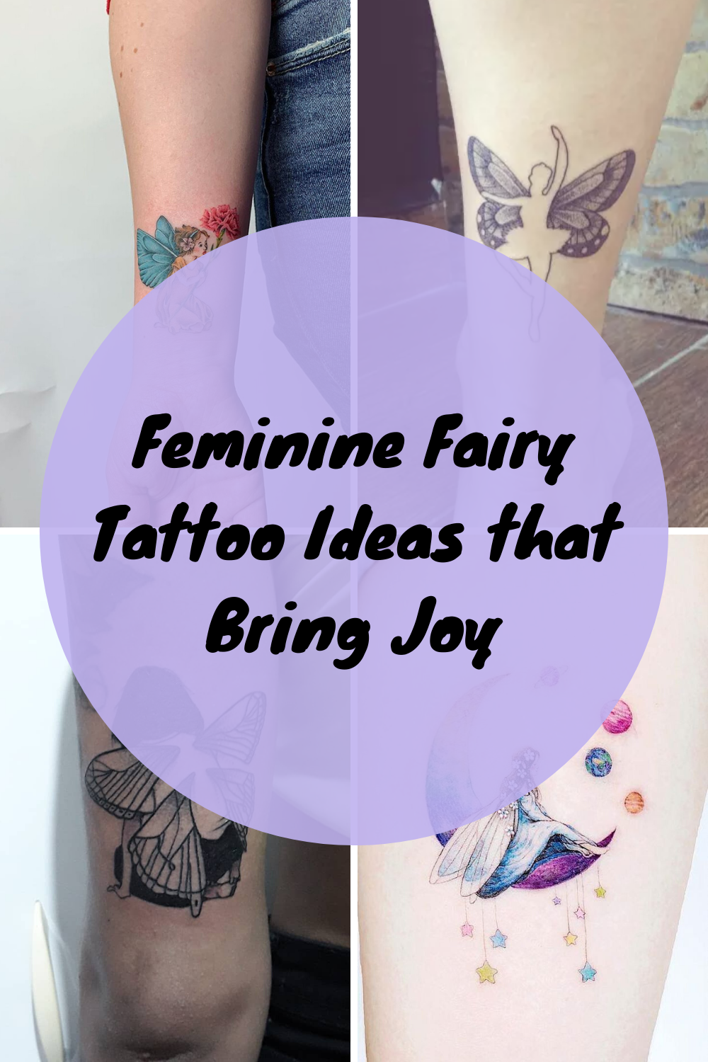 Feminine Fairy Tattoo Ideas That Bring Joy Tattooglee