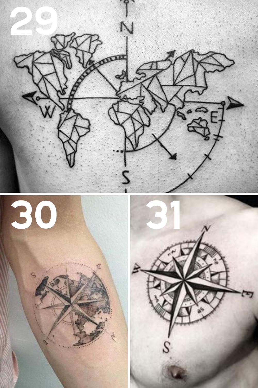 Compass Tattoo Ideas
