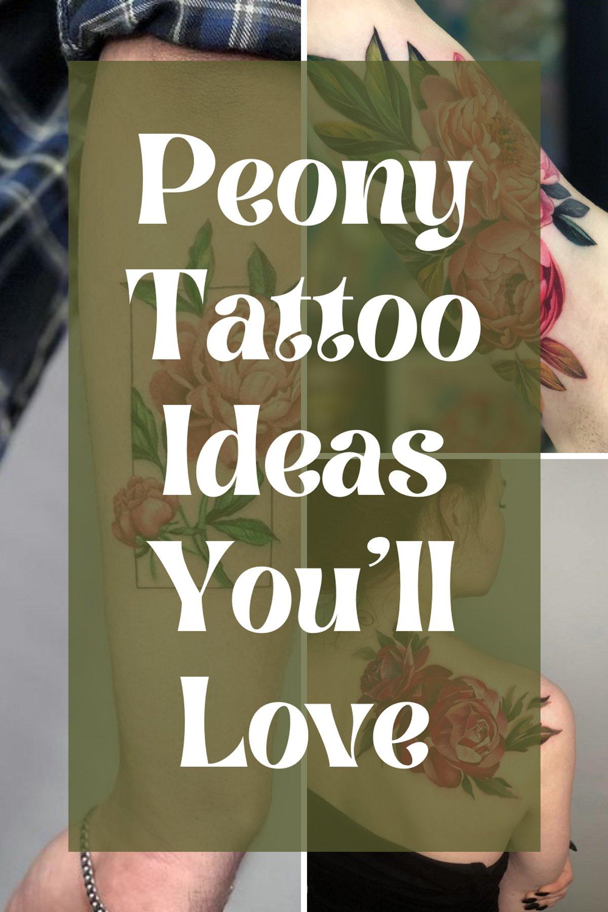 Peony Designs For Tattoos