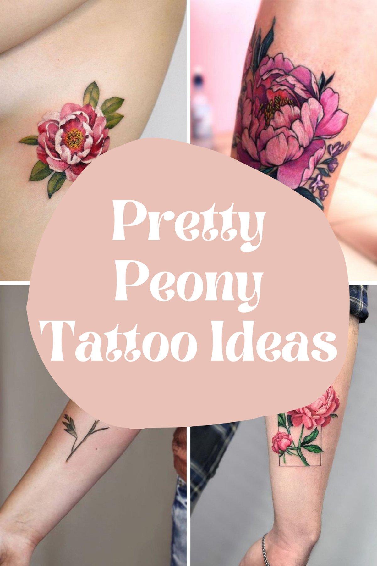 Pretty Peony Flower Tattoos