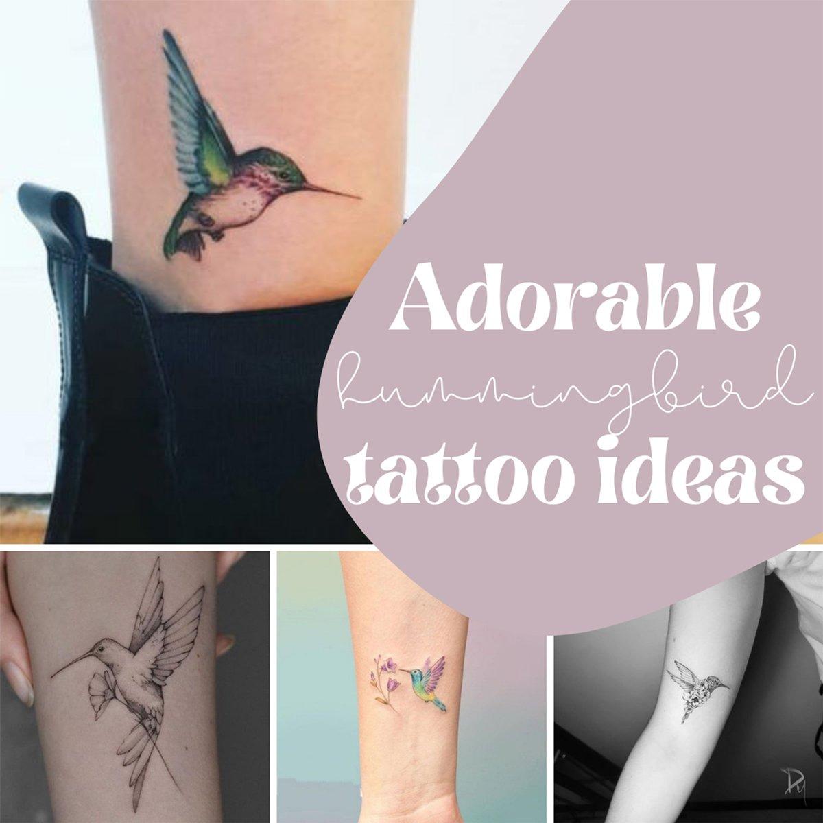 Adorable Hummingbird Tattoo Ideas