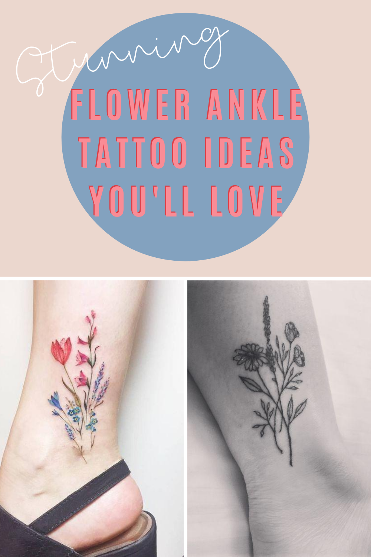 Flower Ankle Tattoo Ideas