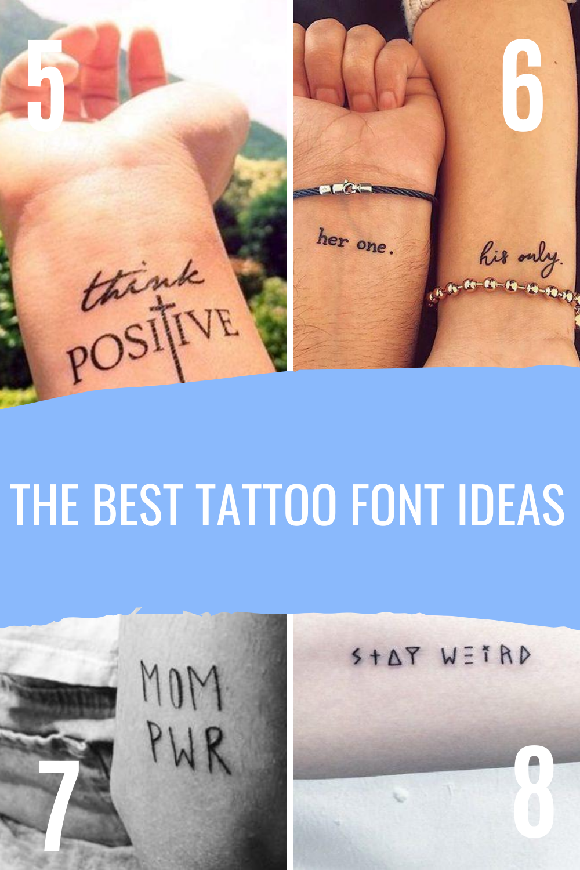 Best Tattoo Font Ideas