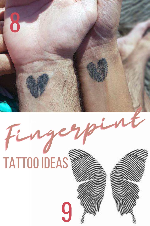 Fingerprint Tattoo Ideas