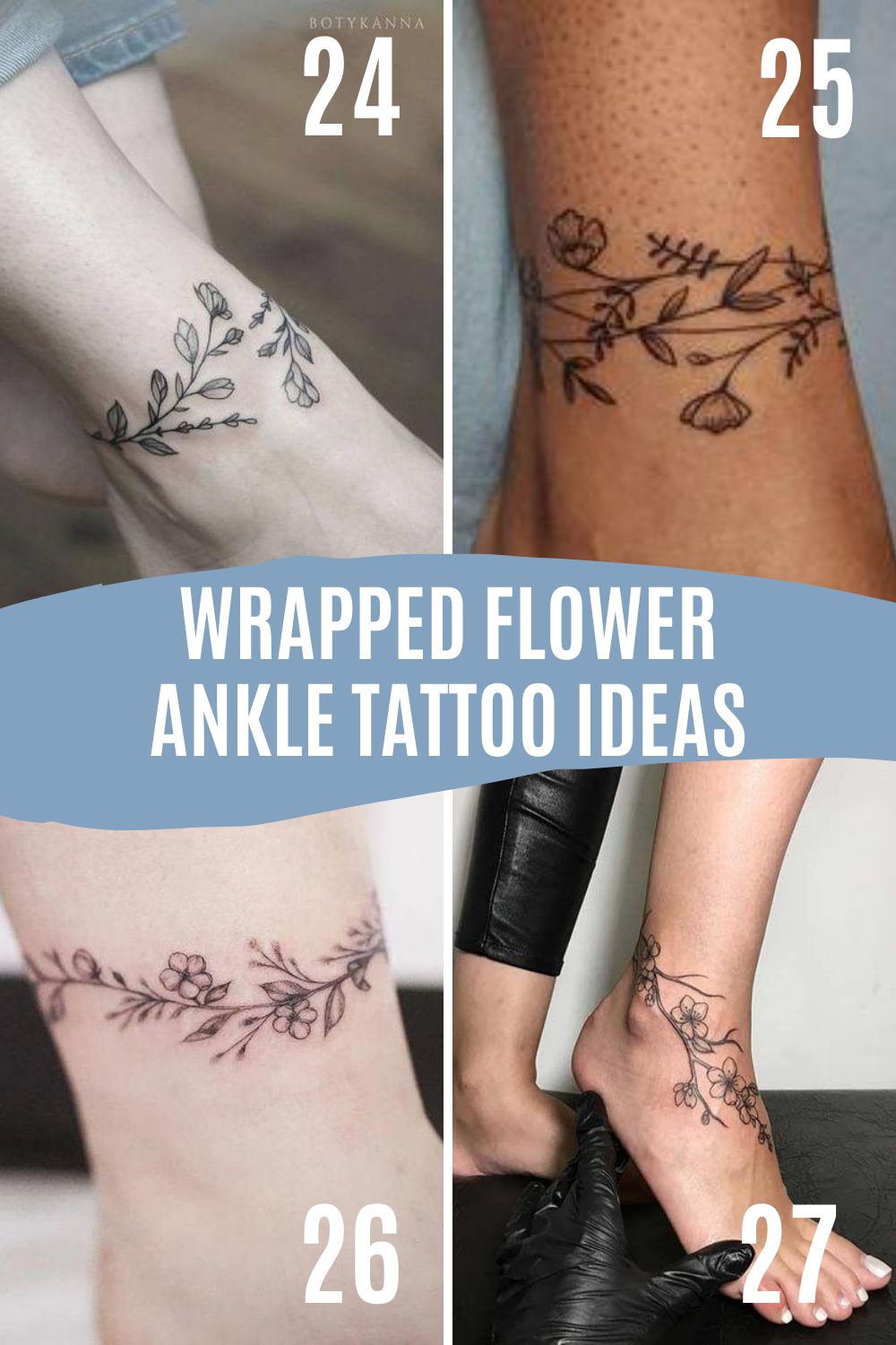 Wrapped Ankle Tattoos