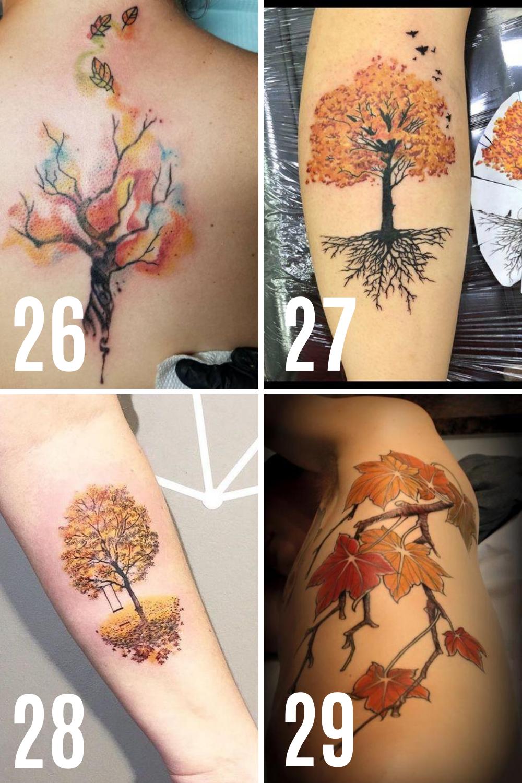 Fall Tree Tattoo Ideas