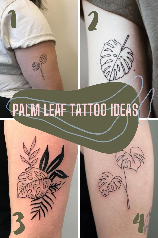 Palm Leaf Tattoo Ideas