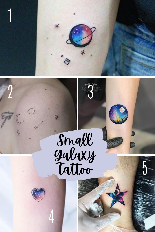 Small galaxy tattoos
