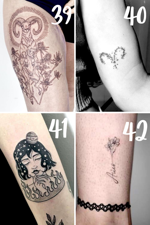 aries tattoo for ladies