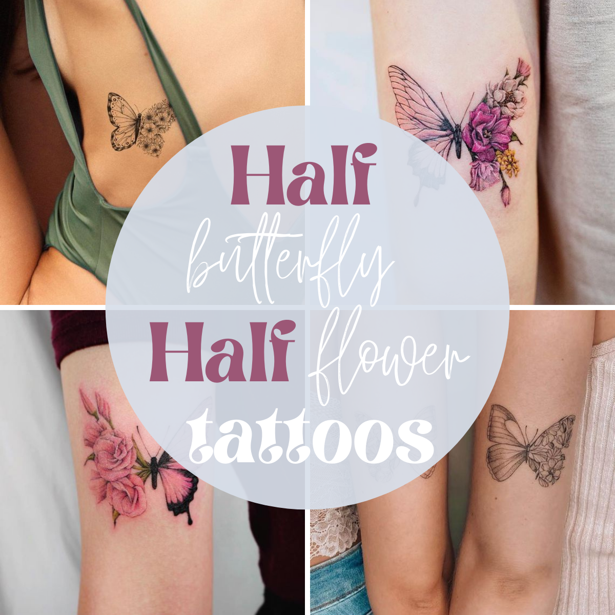 butterfly tattoos with flowers