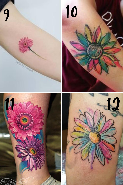 colorful flower desings