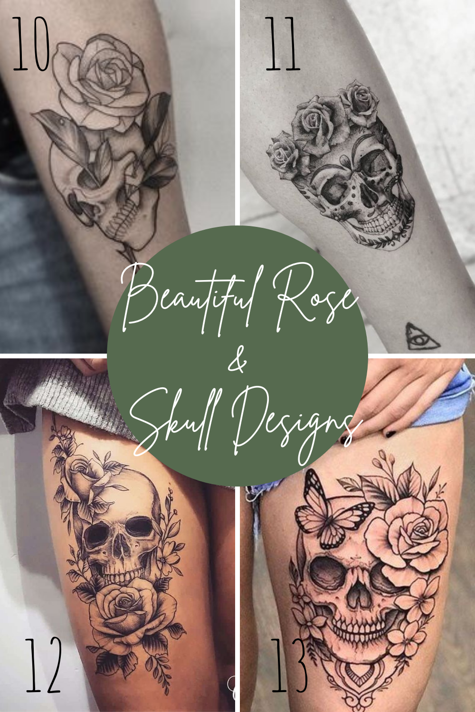 Rose and Skull tattoo