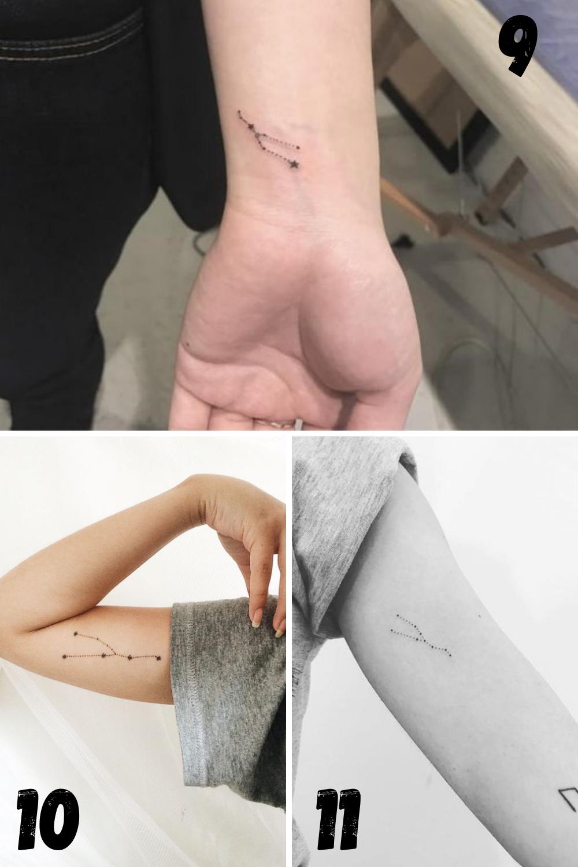 Constellation tattoo ideas