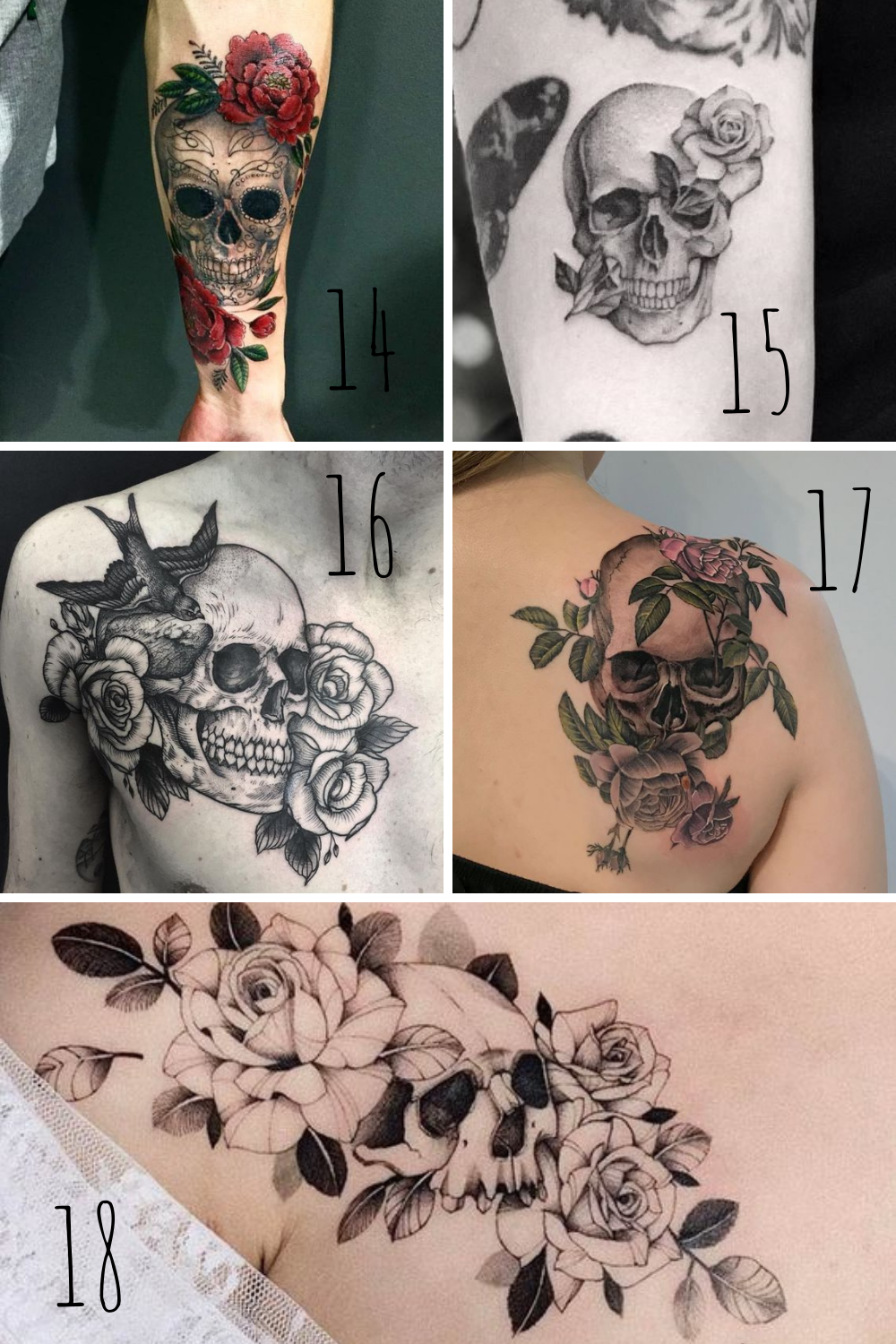 What is a rose and skull tattoo meaning