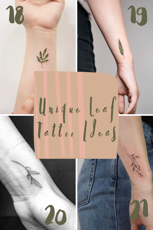 Unique Leaf Tattoo Ideas