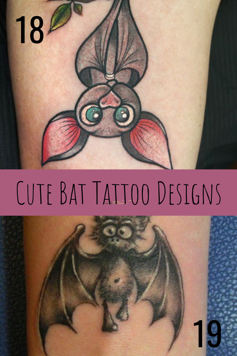 Cute Bat Tattoos