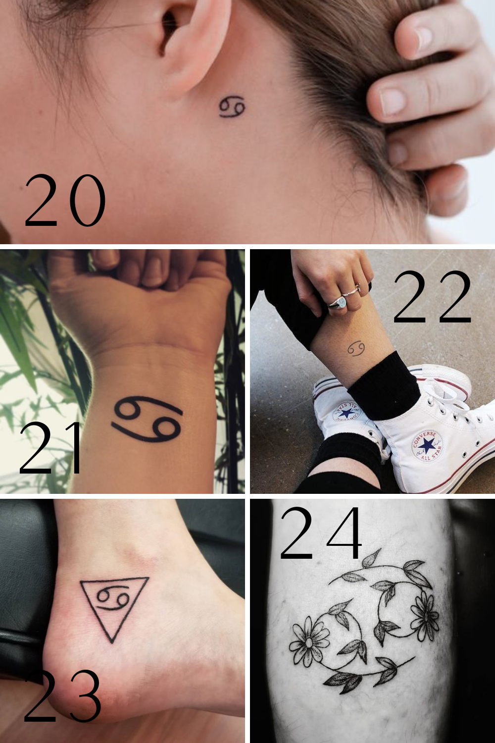 Cancer Zodiac Tattoos