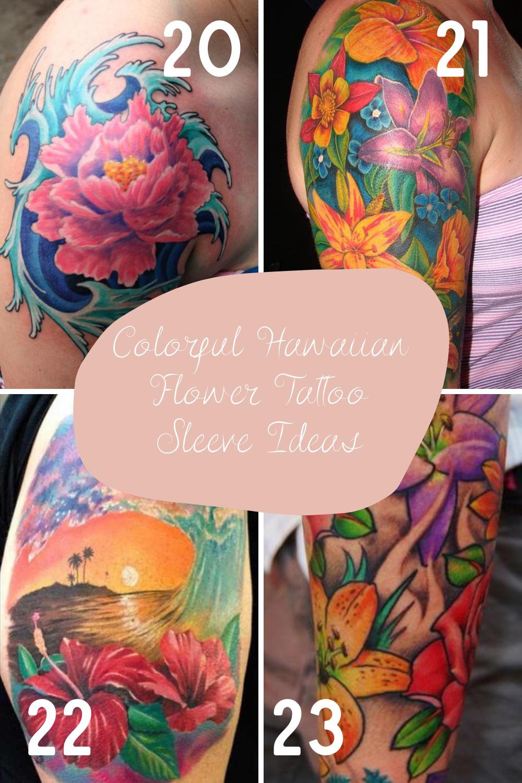 Hawaiian Flower Tattoos