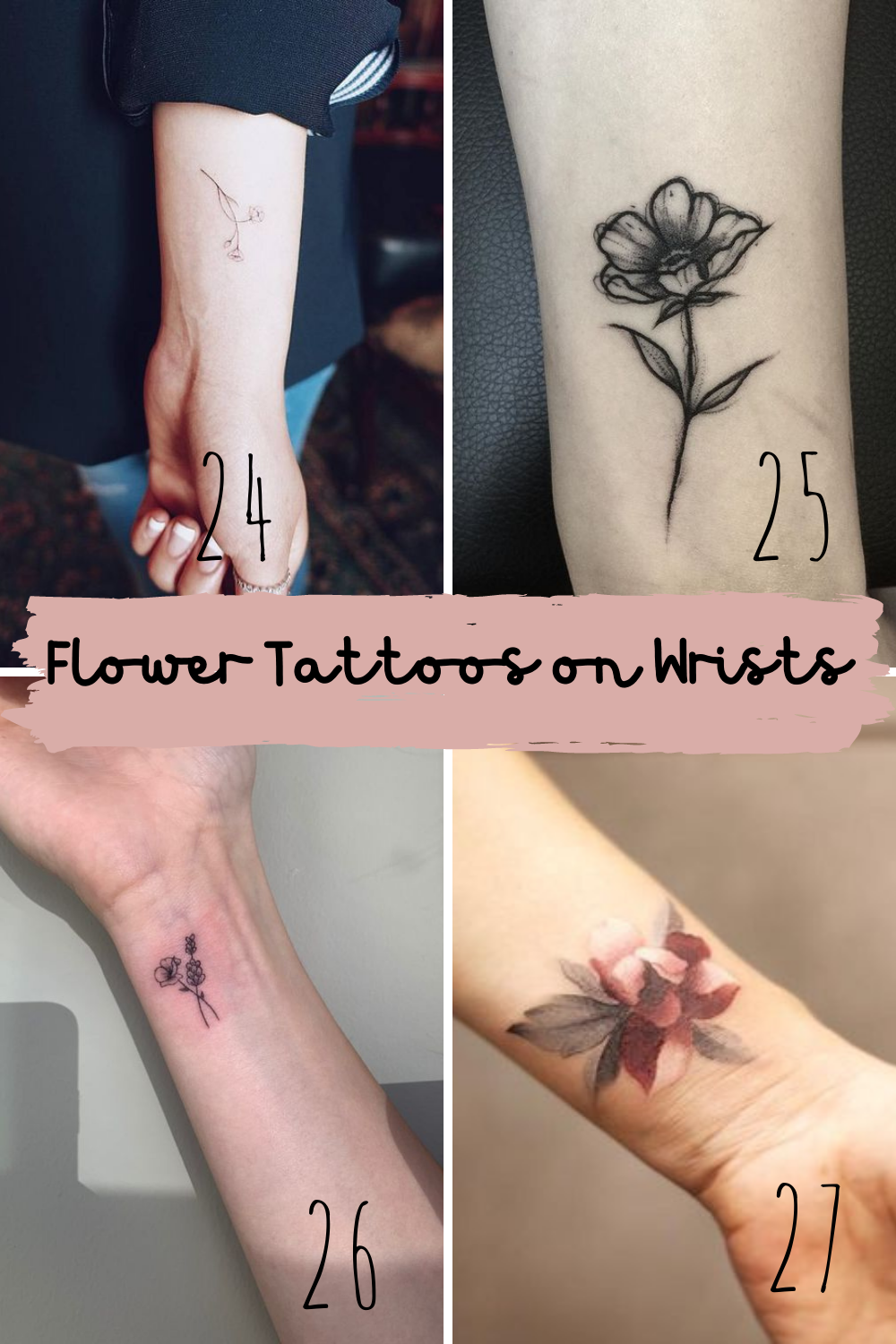 Flower Wrist Tattoo