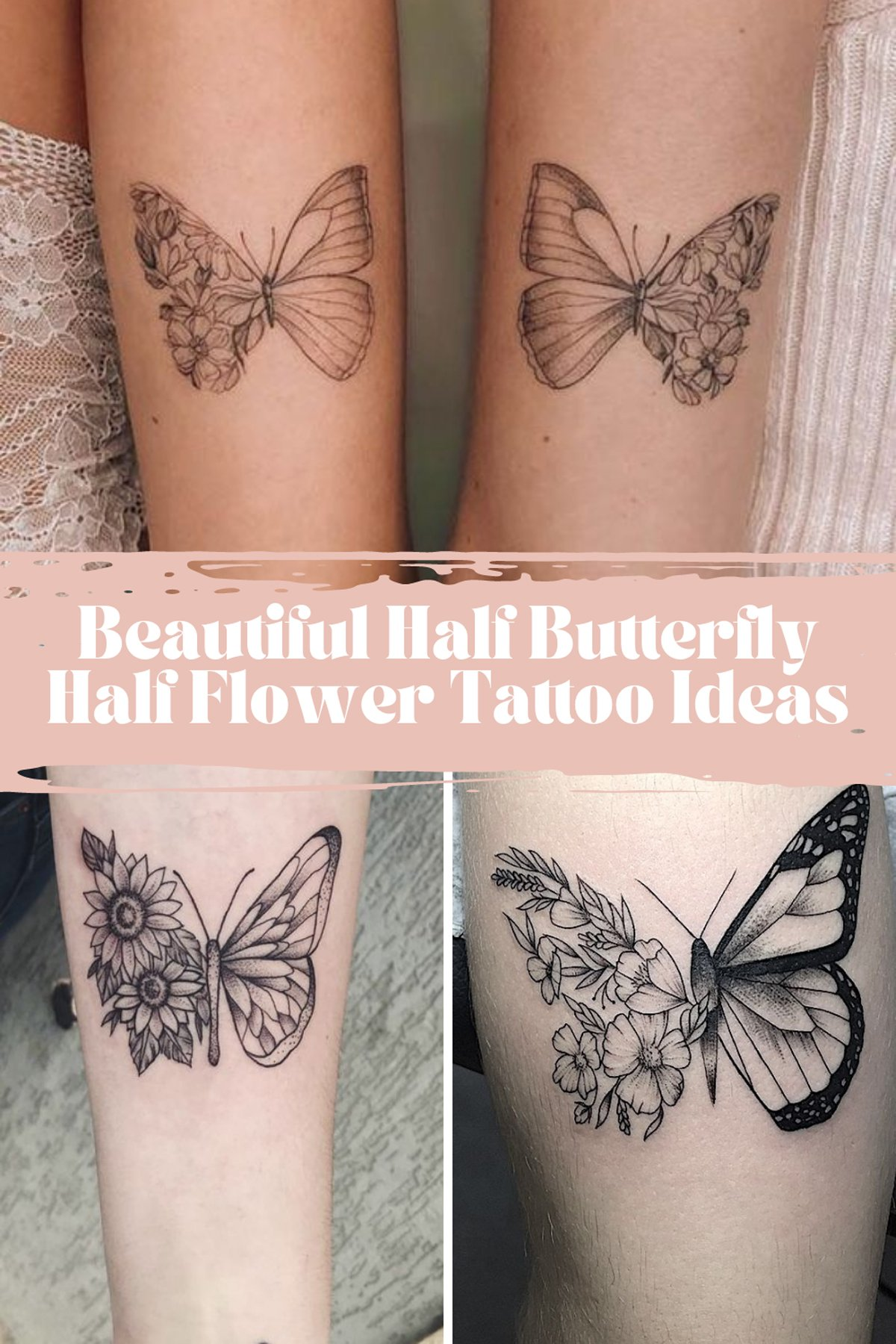 Flower Ideas tattoos with butterflys