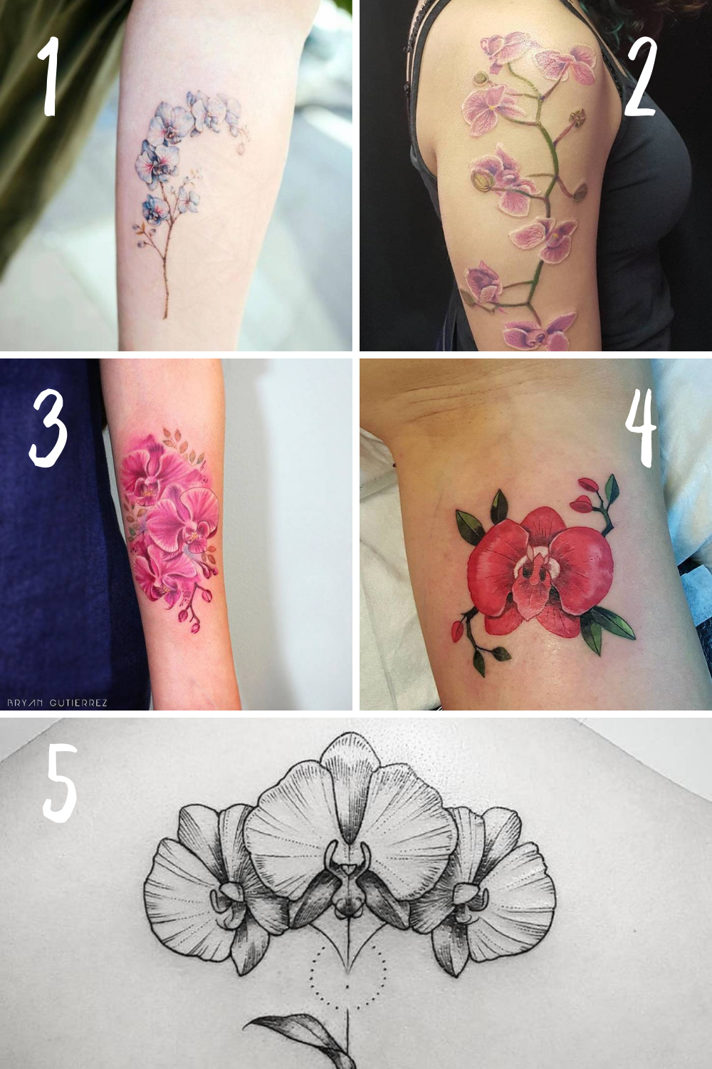 Orchid Flower Tattoo