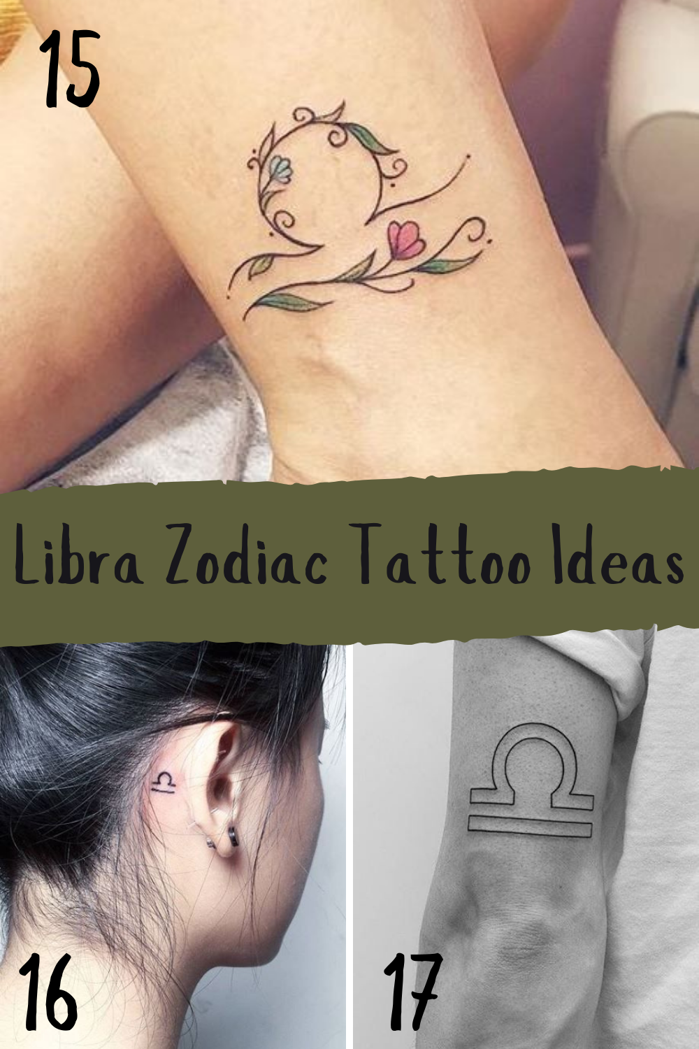 Libra Zodiac tattoo ideas