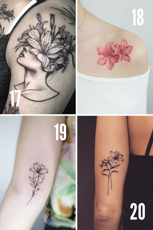 Flower tattoos for women