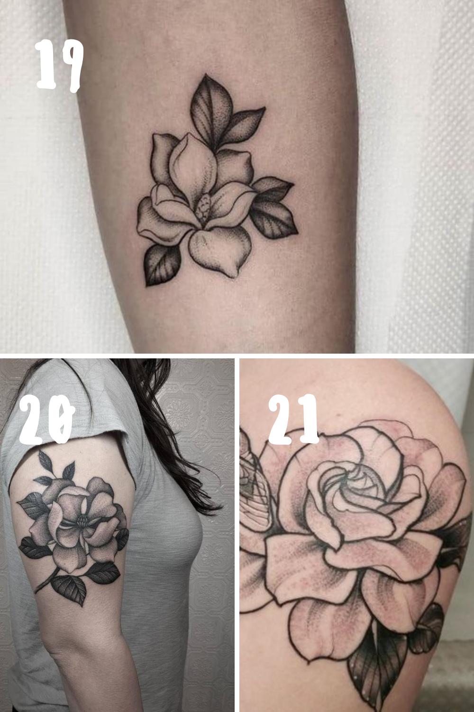 Magnolia Flower Tattoo