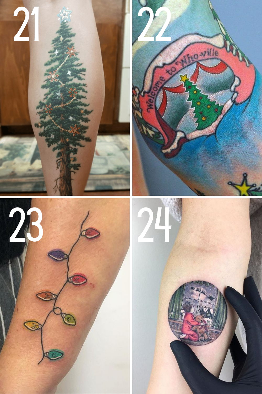 Christmas Tree Tattoo