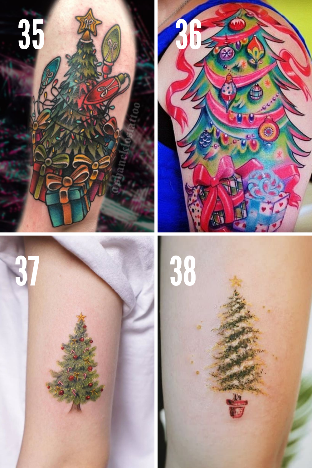 Christmas Lights Tattoo
