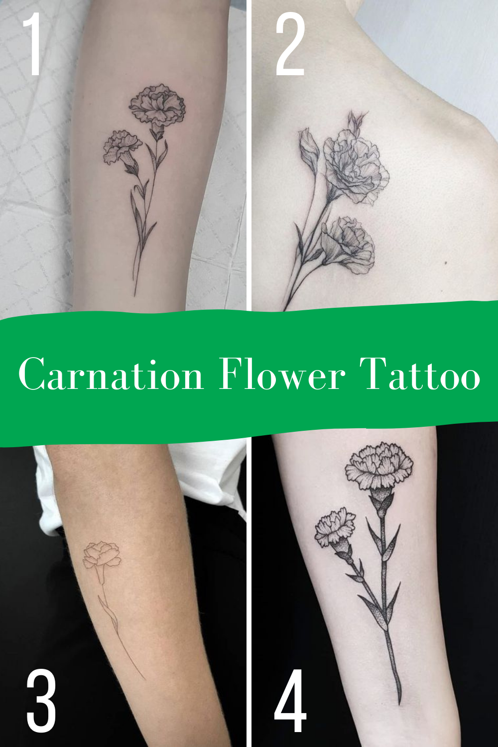 Carnation Tattoo Meaning & Inspiration