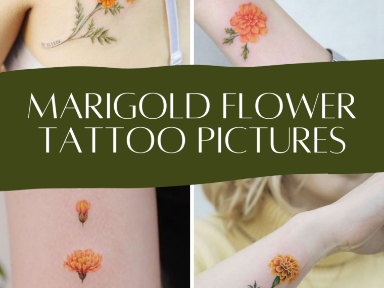 Marigold Flower Tattoos