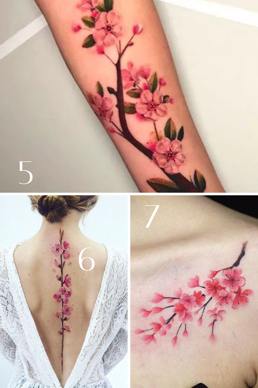 Beautiful Cherry Blossom Tattoo Ideas