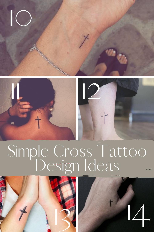 Minimal Cross Tattoos for Women