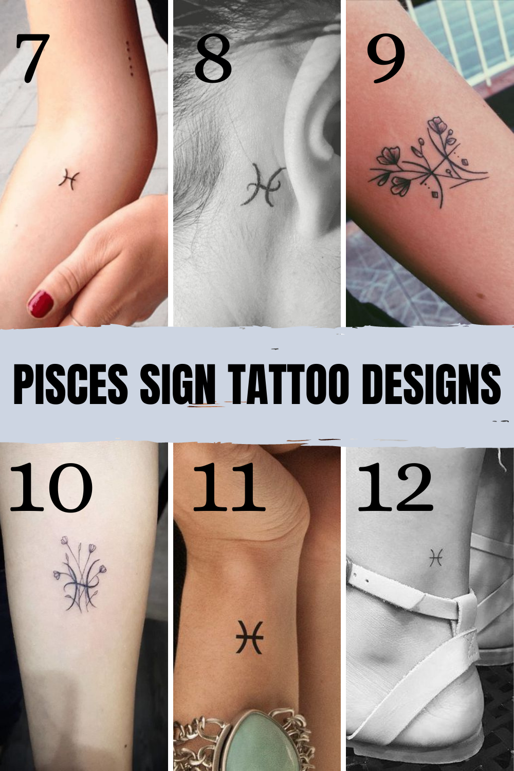 Pisces Signs Tattoo Images