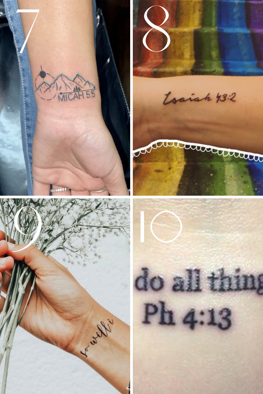 Bible Verse Wrist Tattoo
