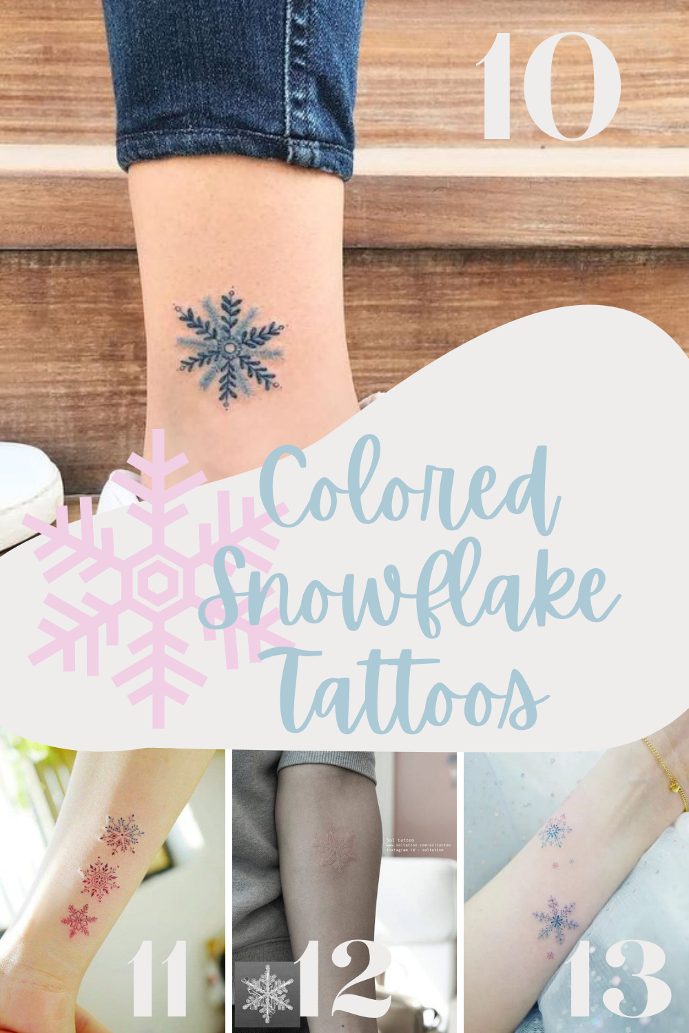 Colored Snowflakes tat Inspiration