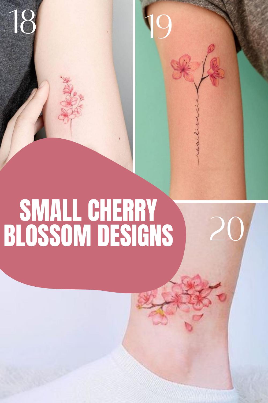 Small Cherry Blossom Tattoo Designs