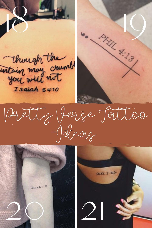 Pretty Quote Tattoo Designs From Scripture