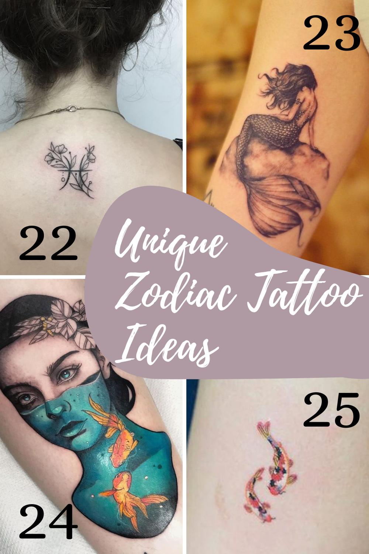 Pisces Tattoo Unique Zodiac Ideas