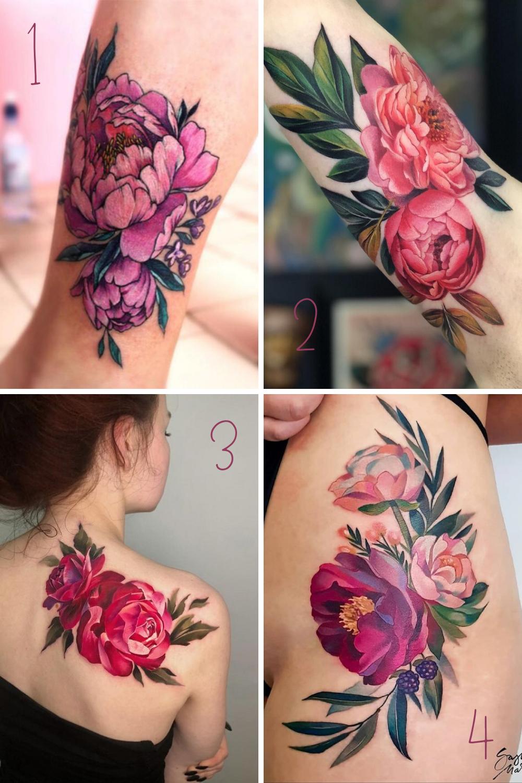 Pink Flower tattoos & Designs