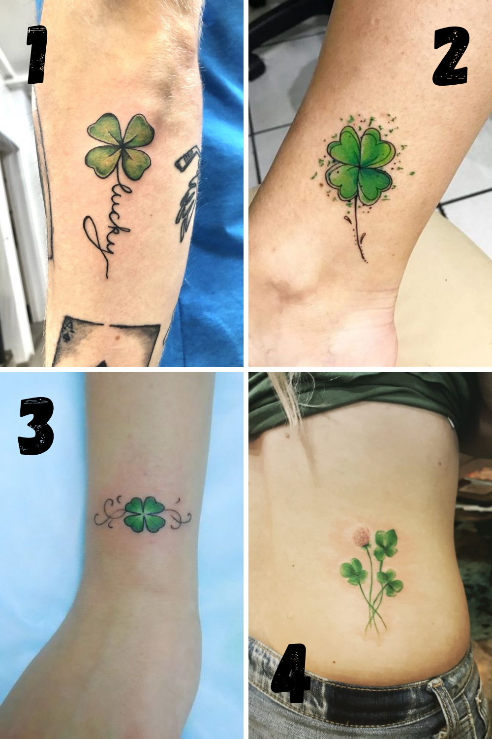 Four Leaf Clover Tattoos Designs & Meaning