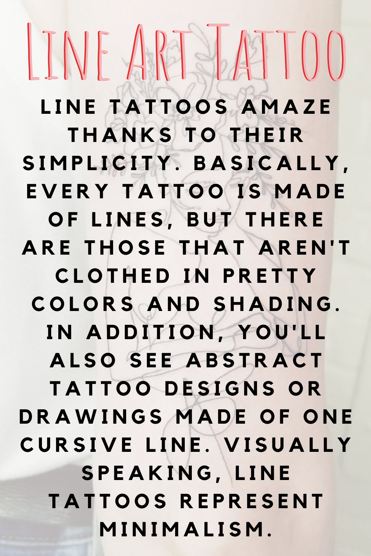 Line Art Tattoo Definition