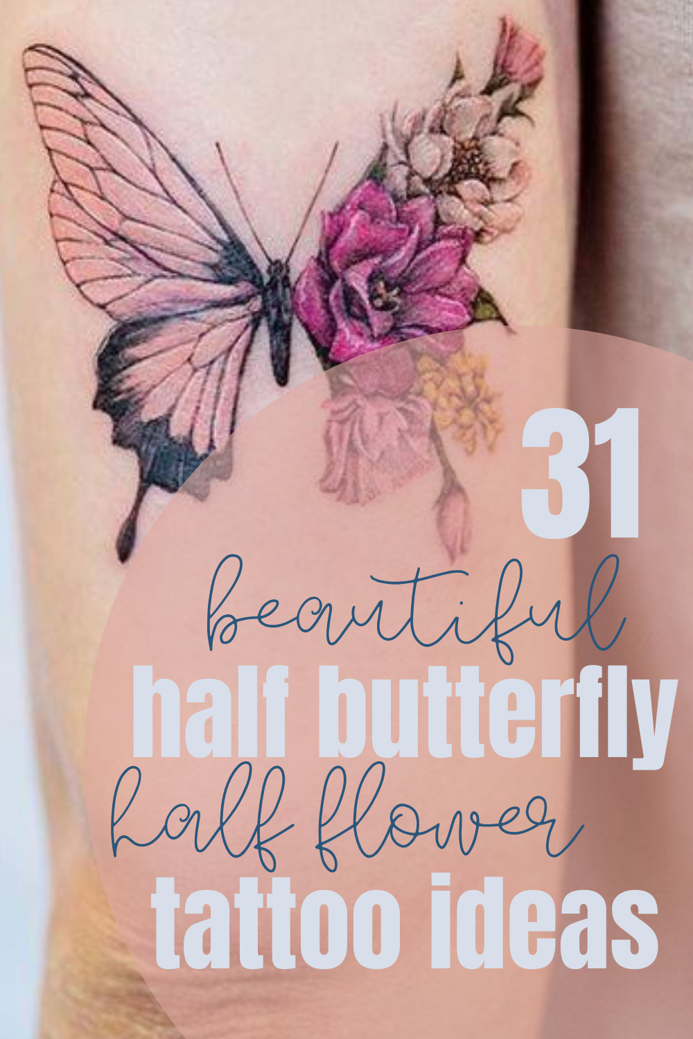 butterfly flower designs for tattoos