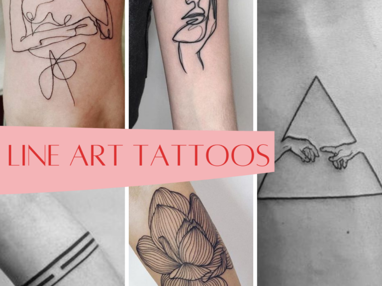 Line Art Tattoos Examples